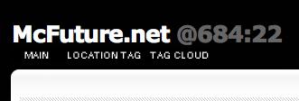 인터넷 표준시가 표시되는 블로그 모습